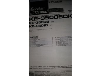 Pioneer KE-3500 SDK Orginal Service manual