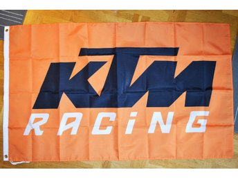 KTM Racing Flagga 90*150cm (Cross, Motorcross, Orange) Ny