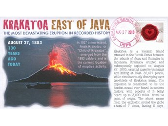 130th Anniversary of Krakatoa Disaster Event Cover