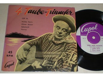 Evert Taube EP/PS Huldas Karin 1957