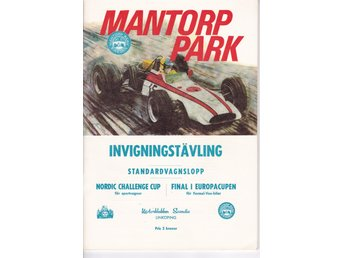 Program Invigningstävling MANTORP PARK 29-31 augusti 1969