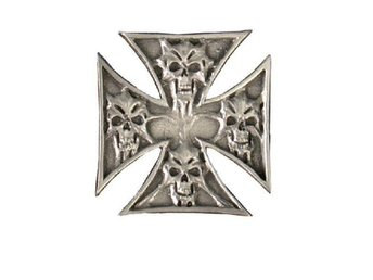 Skull In Cross Pin