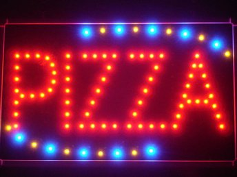 EXKLUSIV PIZZA LED NEON SKYLT - DISPLAY/REKLAM/DEKORATION/TAVLA/BELYSNING