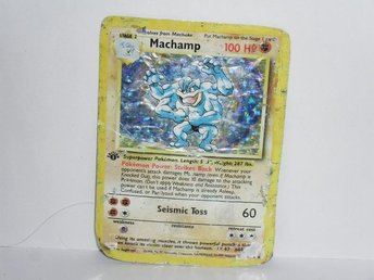 pokemonkort pokemon kort machamp damaged v5
