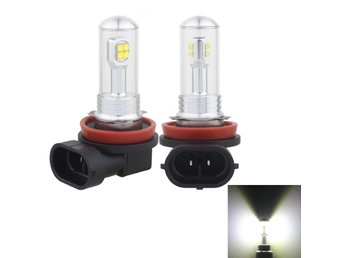 Led Dimljus H8/H11 40W 800 LM 6000K 8 CREE LEDs Car Fog Lights, DC 12V(White Li
