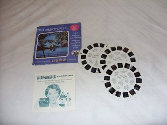 Washington D.C Vintage View Master slides Sawyers Inc Rare 1955 USA