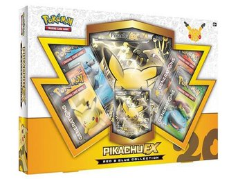 Pokemon 20th Anniversary Pikachu EX Red & Blue Collection - Kortspel