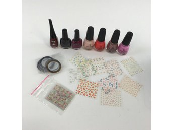China Glaze, Nagelkit, Nagellack, Stickers, Skick: Normalt