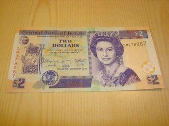 2014 (2015) Belize 2 Dollars ocirkulerad och ovikt UNC - Jämjö, Blekinge - 2014 (2015) Belize 2 Dollars ocirkulerad och ovikt UNC - Jämjö, Blekinge