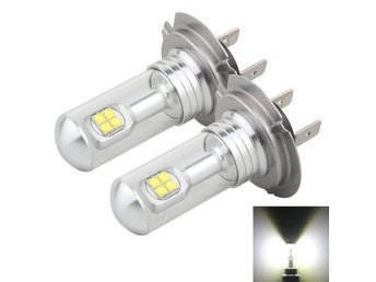 Led Dimljus H7 40W 800 LM 6000K 8 CREE LEDs Car Fog Lights, DC 12V(White Light)