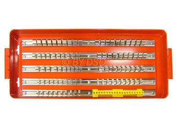 "120 Piece Socket Tray Rack Set 1/4"" 3/8"" and 1/2"" Bits Holder 5 Fixed Rays"