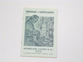 Calvert & CO radio katalog 1941