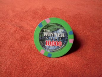 The Winner Clup 10000$ XL poker chips. Card Marker.