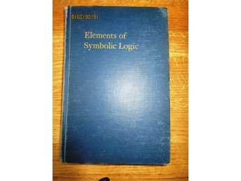 Elements of Symbolic logic 1948