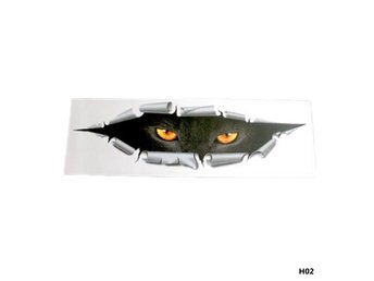 3D Cartoon Cat Eye Bakre fönsterbildekal dekaler 40 * 12CM