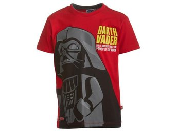 LEGO WEAR T-SHIRT, STAR WARS, DARH VADER, RÖD (128)