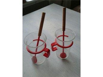 BODUM 2 Glasmuggar (12 cm) 2 Långa BODUM Skedar (20 cm). - Landvetter - BODUM 2 Glasmuggar (12 cm) 2 Långa BODUM Skedar (20 cm). - Landvetter