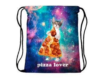 PIZZA LOVER KATT! färgglad gympapåse - FRI FRAKT - Munkfors - PIZZA LOVER KATT! färgglad gympapåse - FRI FRAKT - Munkfors