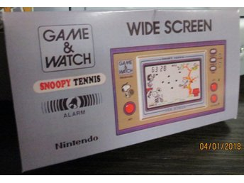 Nytryck av fodral Snoopy Tennis Game & Watch