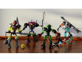 LEGO BIONICLE 70791, 70793, 71306, HERO FACTORY 44007, 4 KOMPLETTA SET, MANUALER