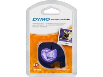 DYMO LetraTAG plasttejp, transparent, 12mm, 4m (16951)