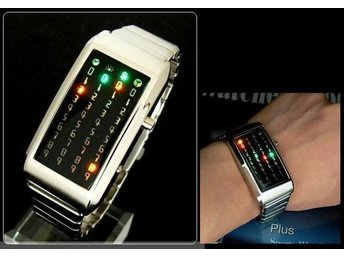 Koreanska!COOL Klocka 40 LED Ljus Armbandsur + Box