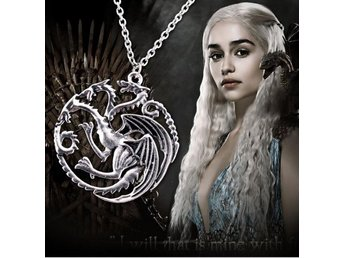 Game of Thrones Targaryen Fiery Dragon Halsband Necklace FRI FRAKT