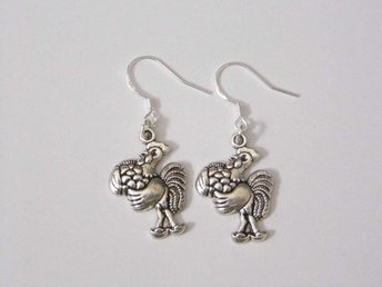 Tupp örhängen / Rooster earrings
