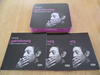 3-Cd Plåtask Serge Gainsbourg - Simply gainsbourg