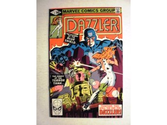 US Marvel - Dazzler vol 1 # 5 - VF - Haderslev - Condition: Please take a good look at the picture(s) My opinion: VF - 8.0 Note: Cover has an about 1 cm. tear up to the left above '50 C' ________________________________________________ If you are looking for other issues in this or other ser - Haderslev