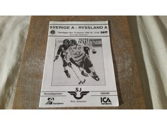 Program Bandy Landskamp Sverige Sovjet 1996 i Sandviken