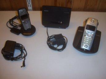 Javascript är inaktiverat. - Västerås - 2st trådlösa hemtelefoner Siemens. Som reservdel eller repobjekt. Båda behöver nya batterier. Följande modeller: Siemens Gigaset C100 Simens Gigaset SL1 Basstation SL100. Se bilder: Betalning via Swedbank eller Swish, skickas med Schenke - Västerås