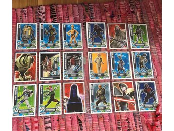 44 st Star Wars force attax trading cards