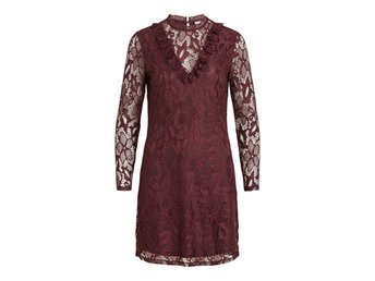 VILA Visasia Lace Dress Winetasting-XS