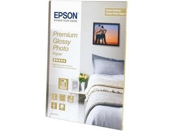 Epson Premium Glossy Photo A4 Paper, 255g/m², 15 Sheets