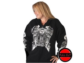 Asphalt Angel Ladies Zip Hoddie Medium