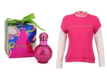 Britney Spears FANTASY 50ml EDP Parfym Perfume GIFT SET T-Shirt