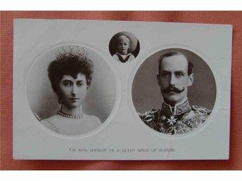 Kungligt Norge Haakon VII o Maud i ovaler fr 1913 - Stockholm - Kungligt Norge Haakon VII o Maud i ovaler fr 1913 - Stockholm