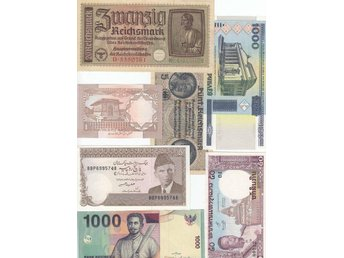 18 banknotes / xf-unc .