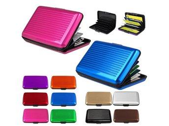 Aluminium Korthållare, Plånbok, Kreditkort, SVART - Halmstad - Aluminium Korthållare, Plånbok, Kreditkort, SVART - Halmstad