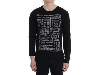 Cavalli - Black Crew-neck Pullover Stretch T-shirt