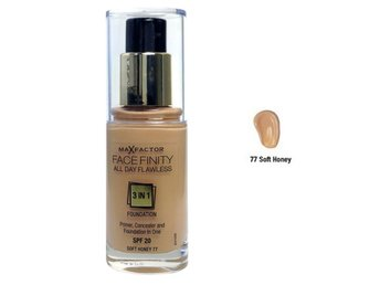 Max Factor Face Finity All Day Flawless 3in1 Foundation Soft Honey -77