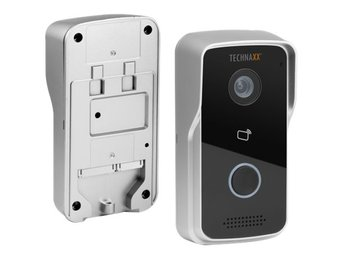 Technaxx Smart WiFi Video Door Phone TX-82, 802.11n, IP65, silver / svart