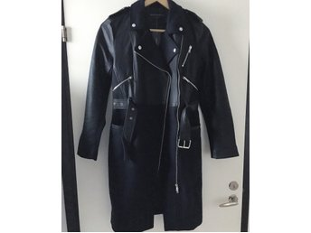 French Connection Idol coat, kappa biker skinnjacka stl 38