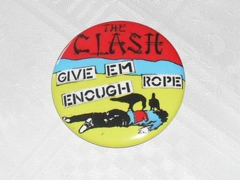 THE CLASH - Stor Button-Badge / Pin / Knapp (Punk, 1977, )