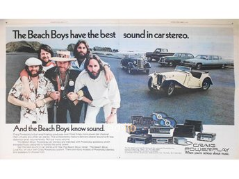 THE BEACH BOYS CRAIG POWERPLAY CAR STEREO, STOR TIDNINGSANNONS1977