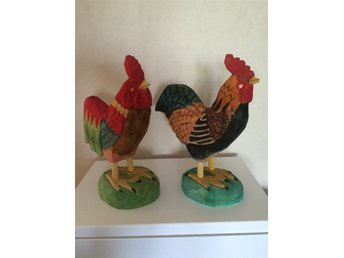 Wooden chicken 2pcs