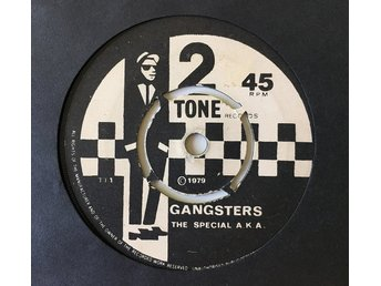 "The Specials ""Gangster"" The Selecter 79 RARE Push Out Transarant Röd vinyl Debut"