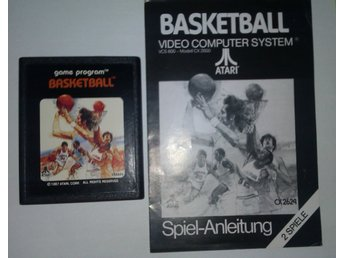 Basketball - Atari 2600 - Med tysk manual
