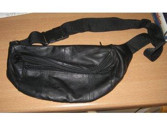 Midjeväska svart skinn ny (339420148) ᐈ Köp på Tradera 0605e067fde12